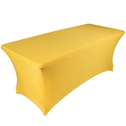 BanquetBay 6FT Stretch Tablecloth -Yellow
