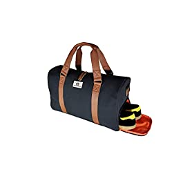 CHAD HAYWARD Adam Sports Duffel Bag with Shoe Compartment For Travel Gym Bag Weekend Overnight Holdall For Men And Women 34 L