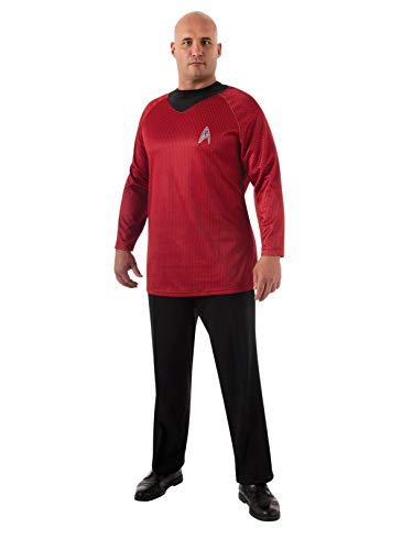 Rubie's Plus-Size Star Trek Into Darkness Deluxe Scotty Shirt with Emblem, Red/Black, Plus Costume -