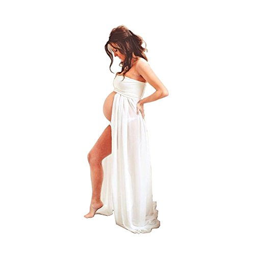 Sexy Pregnant Women Photography Props, Maternity Photo Shoot Skirts (White)
