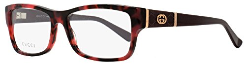 GUCCI 0MK6 Red Havana Burgundy - Glasses Gucci Red