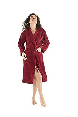 Bagno Milano Women's Wellsoft Microplush Robe, Hooded Velour Spa Bathrobe , Made in Turkey