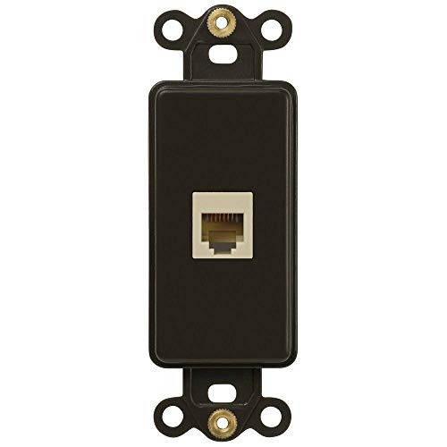 NEW Switch Plate GFI Outlet Cover Wall Rocker Oil Rubbed Bronze Finish (Single Telephone Insert)