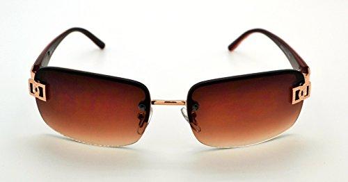 Vox tendance classique de grande qualité Pour homme et pour femme Mode Hot Lunettes de soleil W/étui microfibre gratuit Maroon Frame - Brown Lens