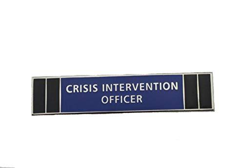 (Crisis Intervention Officer CIO Police Citation Merit Award Commendation Bar Pin Silver)