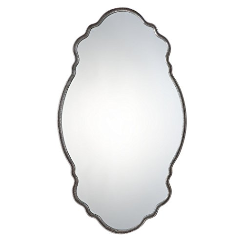 MY SWANKY HOME Luxe Curved Oval Wall Vanity Mirror | 36
