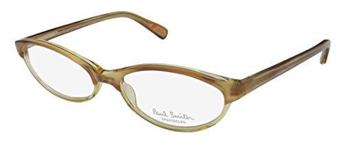 Paul Smith 286 For Ladies/Women Cat Eye Full-Rim Shape Eyes High-class Brand Name Eyeglasses/Glasses (52-16-135, Transparent Lighht Brown/Yellow)