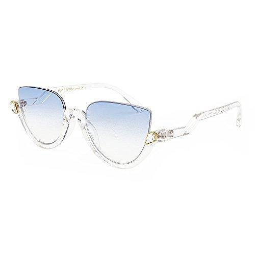 Designer Halbrand Katzenaugen Schatten Gläser Sonnenbrille No3 Frauen Spiegel Sonnenbrille C11 KLXEB Vintage Spitzen Marke xUTwEw56