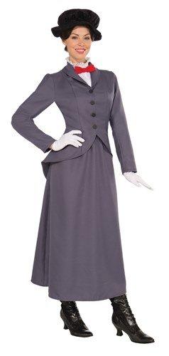 Super Nanny Costume (Mary Poppins Victorian Nanny Female Fancy Dress (US 10-12))