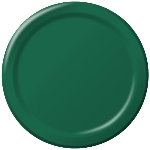 (Creative Converting Touch of Color 24 Count Paper Banquet Plates, Hunter Green)