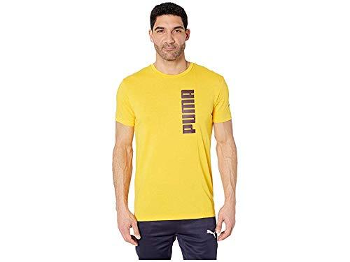 PUMA Men's Energy Tri-Blend Graphic T-Shirt Spectre Yellow - Puma Graphic T-shirt