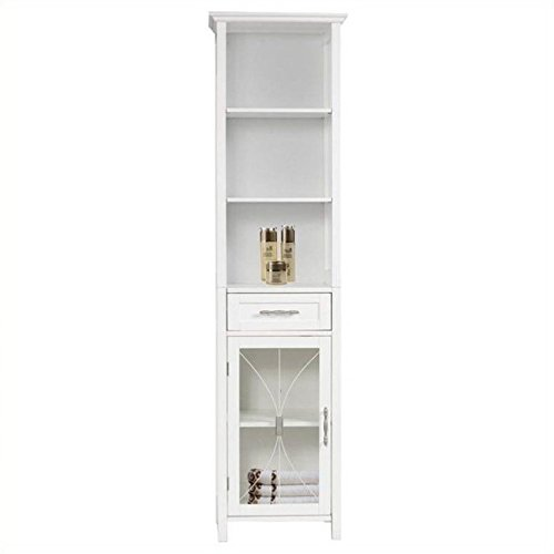 Elegant Home Fashions Delaney Linen Cabinet in White
