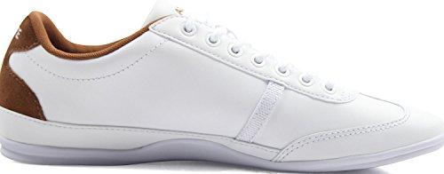Lacoste - Mens Misano Sport 317 Us Scarpe Bianco / Marrone