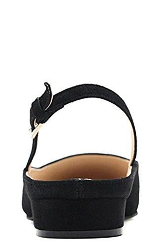 Scarpe Da Donna In Pelle Scamosciata Mary Jane Slingback Mary Jane Bianche, Disponibili In Nero E Verde Nero