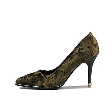 Talones de las mujeres Zapatos Primavera Verano Otoño Invierno Fleece club banquete de boda y vestido de noche del tacón de aguja Negro Verde Rosa Rojo Pink