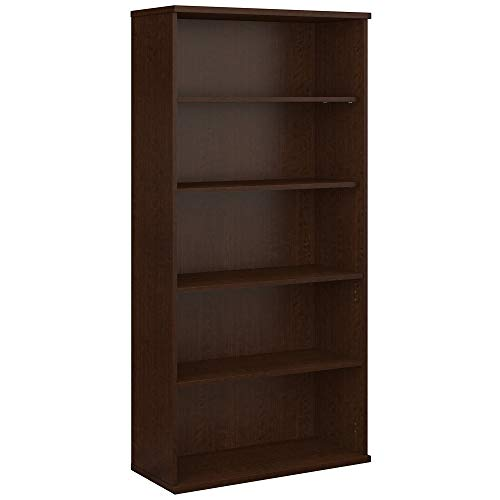 Bush Business Furniture Series C 36W 5 Shelf Bookcase in Mocha Cherry
