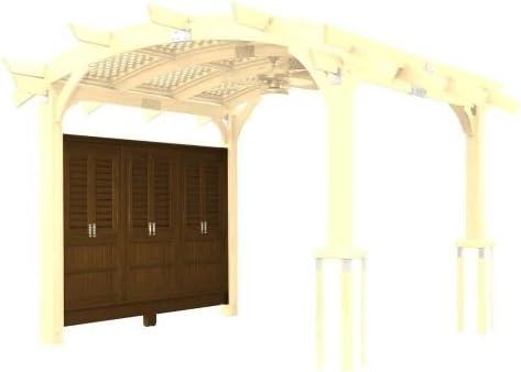 16 X 16 Sonoma arco pergola de madera con entramado para techo y ...