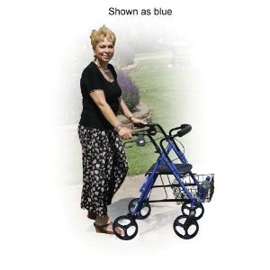 D-Lite Rollator Aluminum With Loop Brakes Tool Free Boxed - Blue