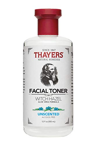 Alcohol Free Oil Free Toner - Thayers Alcohol-Free Witch Hazel Toner with Aloe Vera Formula, Unscented, 12 Fluid Ounce