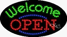 15 x 27 x 1 inches Open Welcome LED Sign Made in USA