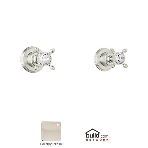 Rowe 3/4 Inch Concealed Wall Valve - ROHL U.3231X-PN VOLUME CONTROL/DIVERTERS, Polished Nickel