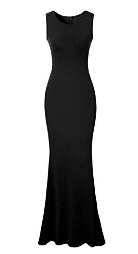 Vestidos Para De Sin Fiesta Vestido Largo Boda Largos Noche Mujer La Manga Negro FdWqzgFc