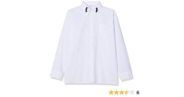 Niños camisa blanca formal con lazo y manga larga. Boda Bautizo Smart fiesta escuela.