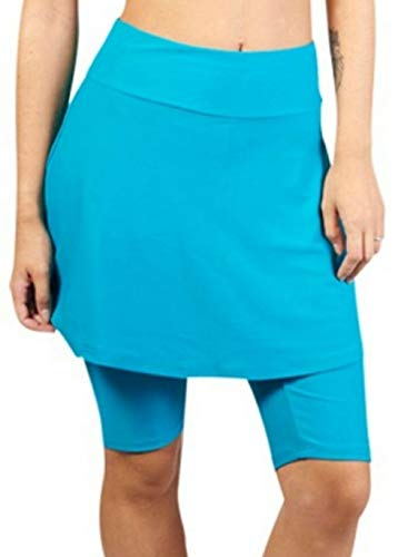 - Ella Mae Women's Tankini High Waist Swim Skirt With Leggings Knee Length Skirt Skort
