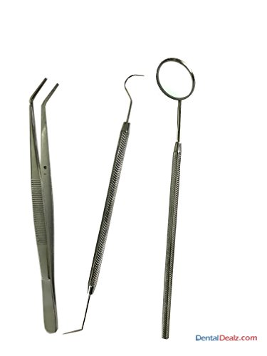 SS WHITE – Dental Pmt Set (Mirror With Handle, Tweezer, Probe Double Ended)-Diagnostic Kit Price & Reviews