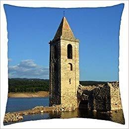 wangsajko Church in Sau's Reservoir - Throw Pillow Cover Case 18 X 18 -