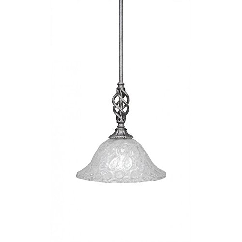Toltec Lighting 80-AS-431 Elegante Mini Pendant with Hang Straight Swivel Shown in Aged Silver Finish with 10-Inch Italian Bubble ()