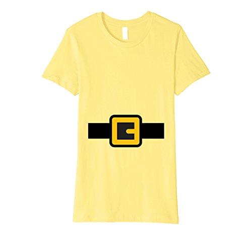 Womens Dwarf Costume Shirt, Halloween Matching Shirts for Group Medium Lemon