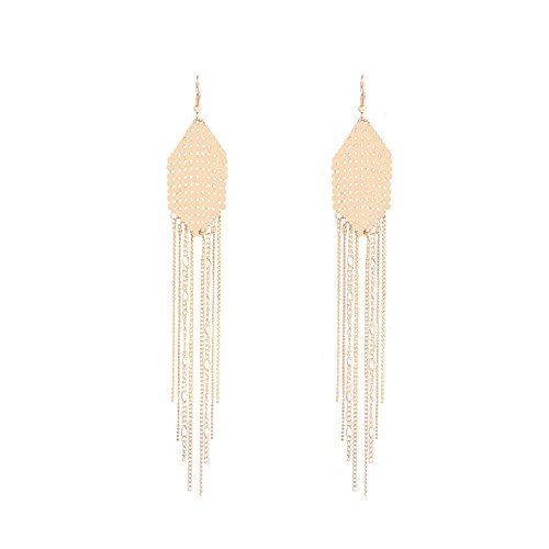 ZaH Fashion Women Earrings Metal Long Large Earring with Tassels for Party Wedding Theme Halloween Christmas, (Halloween Metal Party 2017)