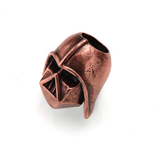 Fashbag Bead Charms for Jewelry Making,Spartan Helmet Beads Metal Antique Silver, Gold Or Bronze Charms for Paracord Bracelet Accessories Survival,DIY Pendant Buckle Rose gold-AC1858