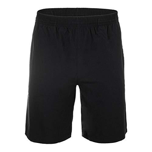 Fila-Men`s Fundamental 9 Inch Hard Court 2 Tennis Short-(723567955148) Black
