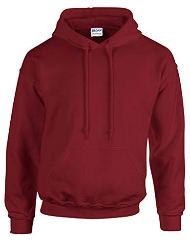 Gildan G125 DryBlend Adult Hooded Sweatshirt, Red, Medium (Red Hoodie)