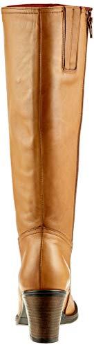Donna Leather Buffalo Stivali Cork 00 Alti Marrone Antico cuoio Rxwn1Ow6