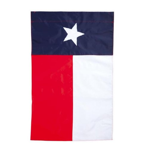 Evergreen- Texas State Flag Garden Applique Flag,18
