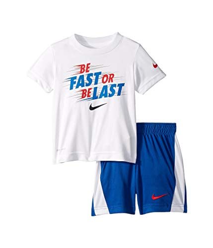 Nike Kids Baby Boy's Fast or Last Short Sleeve Tee Set (Toddler) Game Royal 4T