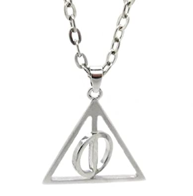 Harry potter deathly hallows xenophilius lovegoods symbol harry potter deathly hallows xenophilius lovegoods symbol spinning pendant necklace mozeypictures Images