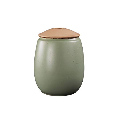 Funeral Urn Cremation Urns Adults Children Pet Urns Sealed Against Moisture Handmade Carving Durable Family Funeral Urn Burial (Color : Green, Size : #2)