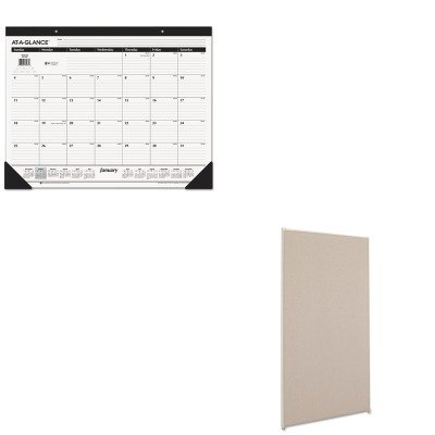 KITAAGSK2400BSXP7236GYGY - Value Kit - Basyx Vers Office Panel (BSXP7236GYGY) and At-a-Glance Recycled Desk Pad (AAGSK2400)