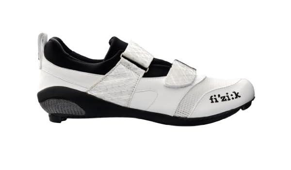 Fizik hombre K1 Uomo triatlón Zapatillas de ciclismo para bicicleta, blanco: Amazon.es: Deportes y aire libre