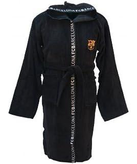 10XDIEZ Albornoz Hombre F.C. Barcelona Negro - Medidas Albornoces - L  (Grande) cf0d101ffe8