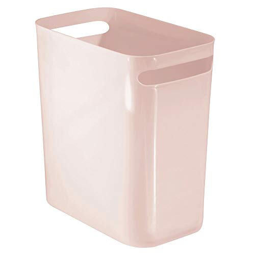 mDesign Rectangular Wastebasket Container Bathroom product image