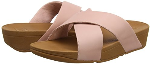 leather Sandals Aperta Donna Lulu Sandali Cross 535 Fitflop Slide dusky Rosa Punta Pink wgxIUqxFt