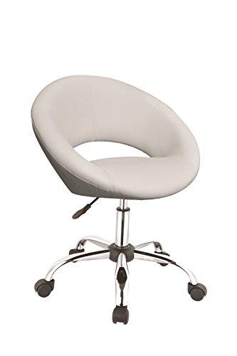 Schreibtischstuhl Weiss drehstuhl mit rollen arbeitshocker in weiß drehhocker mit lehne