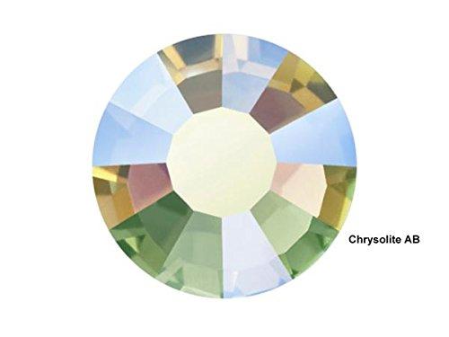クリソライトABホットフィックス、288 PreciosaチェコViva天然クリスタル30ss、ss30 (6.5 MM) アイロンviva12   B079K84LVN