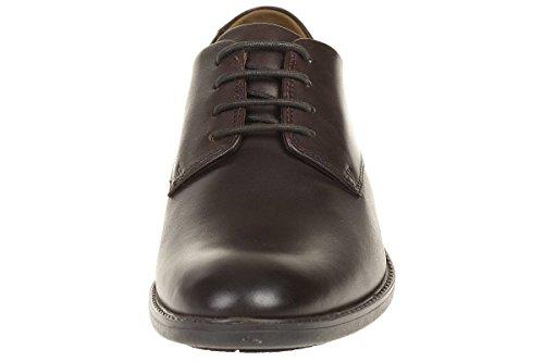 Clarks Truxton Plain leather Herren Men Schnürhalbschuhe Leder dunkel braun Darkbrown