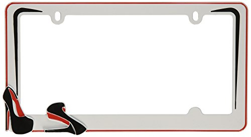 - Cruiser Accessories 22001 Stiletto License Plate Frame, White/Black